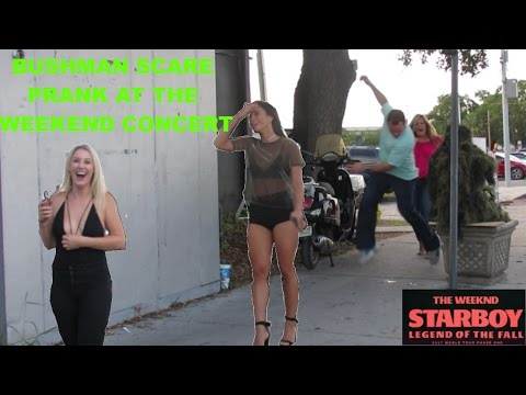 BUSHMAN SCARE PRANK AT THE WEEKEND CONCERT