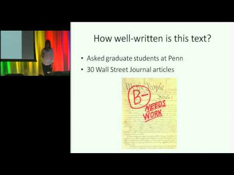 2011 Frontiers of Engineering: Automatic Text Understanding of Content and Text Quality