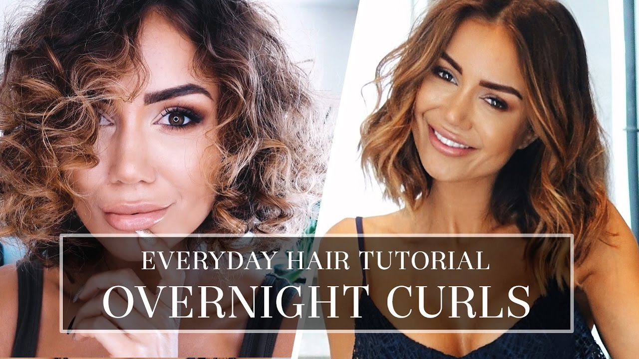 HAIR TUTORIAL , HOW I DO MY CURLY HAIR , LONG BOB HAIR STYLE TUTORIAL FOR A  TEMPORARY CURL