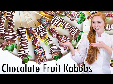 Chocolate Fruit Kabobs Valentine's Day