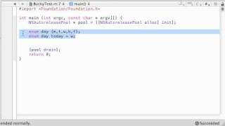 Objective C Programming Tutorial - 46 - Enumerated Data Types