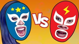 """LUCHAAA!"" Wrestle Jump - Husband Vs Wife"