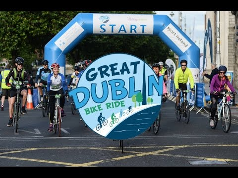 Great Dublin Bike Ride 2016 100K Start to Finish - Rear Camera