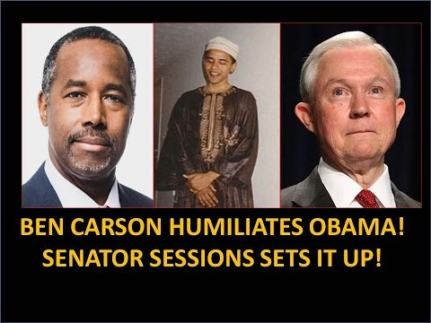 Ben Carson Humiliates Obama! Senator Sessions Set It Up! Hindsight Explains A Lot!