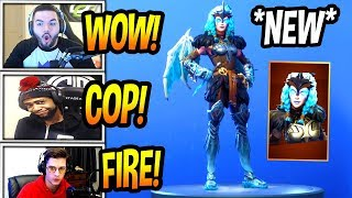 "STREAMERS REACT TO *NEW* ""VALKYRIE* SKIN! *LEGENDARY* Fortnite FUNNY & EPIC Moments"