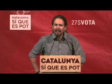 Pablo Iglesias a Nou Barris