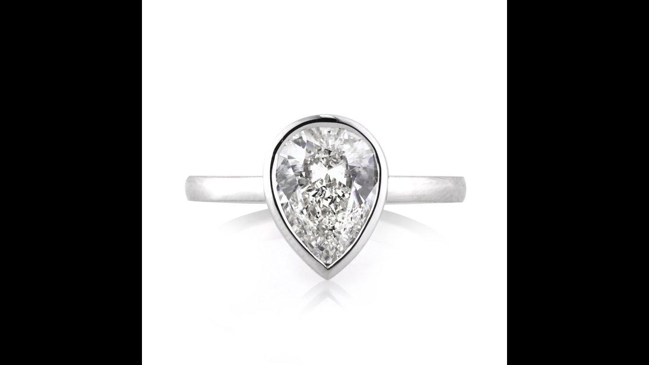 Diamond Solitaire Engagement Rings Bezel Setting