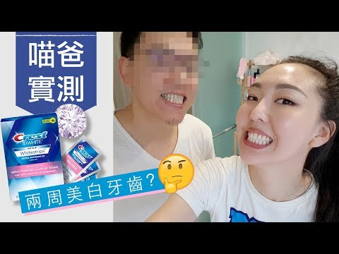 [AD] 喵爸實測! Crest美白牙貼真的有效嗎?