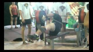 Vladimir Maximov 380 kg @ 133 kg NO lift