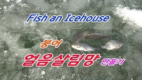 붕어얼음살림망,물고기얼음집,얼음낚시 Fish an Icehouse