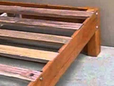 Tarima 2 plazas madera tornillo youtube - Hacer una cama de madera ...