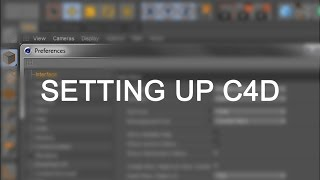 Lesson 1 - Setting Up Cinema 4D