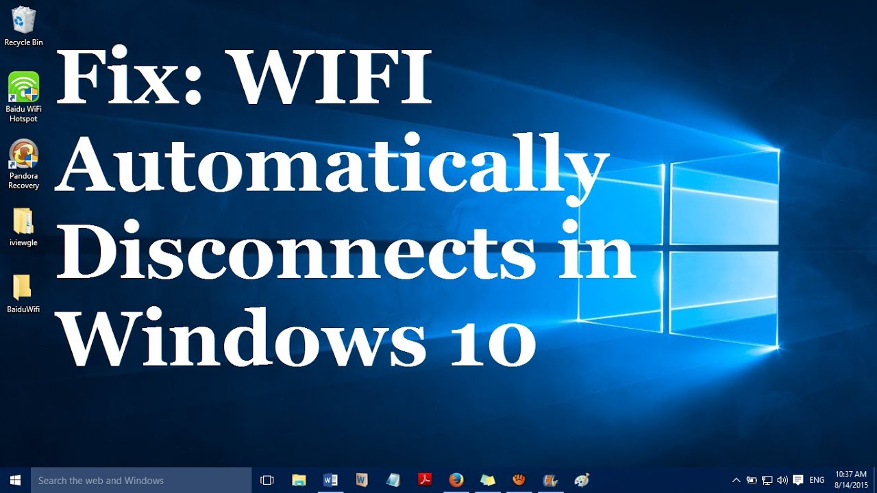 Fix Quot Wifi Disconnects Automatically In Windows 10 Quot One