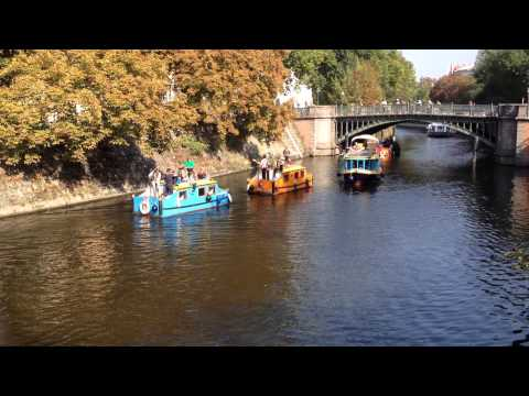Musical Pirates on the Landwehr Canal, Berlin