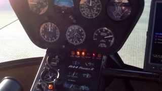 Посадка Вертолета Robinson 44, Остановка Двигателя.