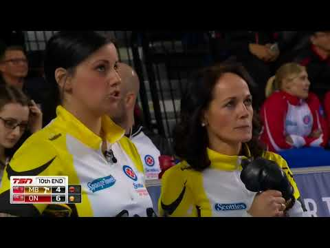 2017 Scotties Tournament of Hearts Final - Rachel Homan - Thin Double in 10th to save game