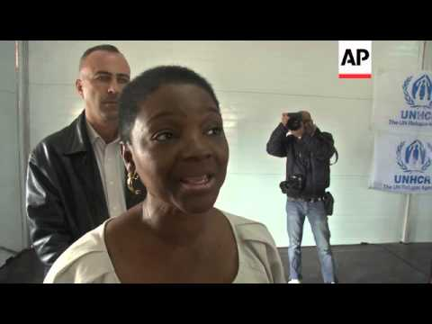 UN's Valerie Amos visits Zaatari camp near the Syrian border
