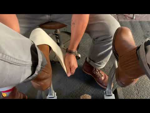 Shoeshine ASMR, Western Boots Clean And Shine.