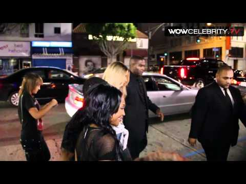 Ciara Mobed by paparazzi at Playhouse in Hollywood for BET Awards after party