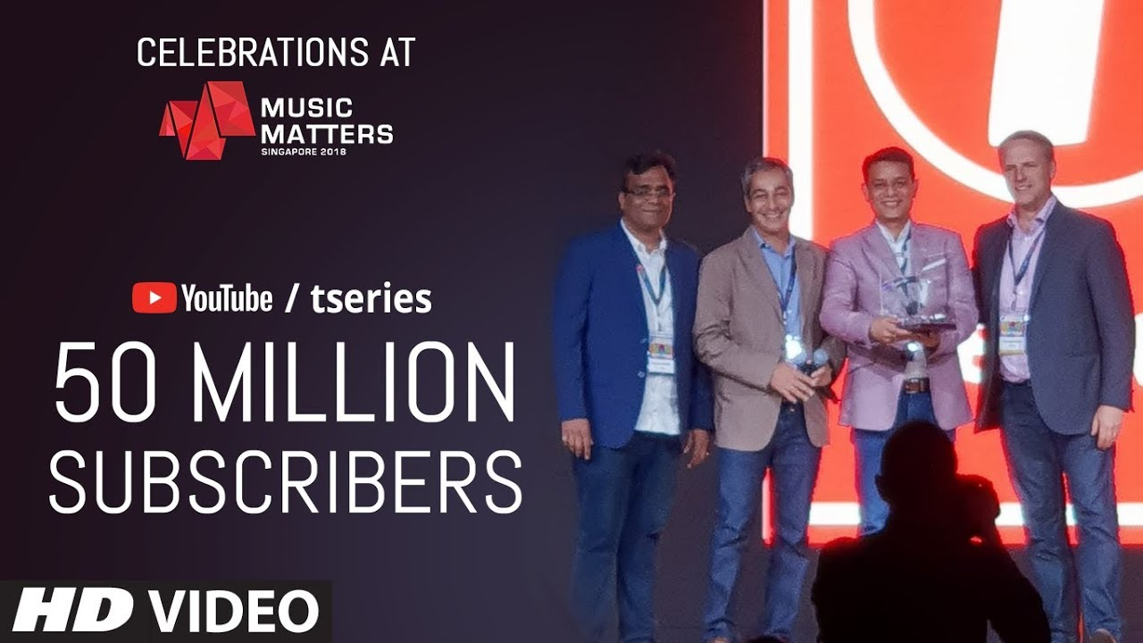 T Series: Music Matters: T-SERIES Awarded For Surpassing 50 Million