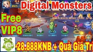 Game Private Digital Monsters | Android & IOS | Free VIP8 - 28.888KNB + KNB Event + Quà Tân Thủ