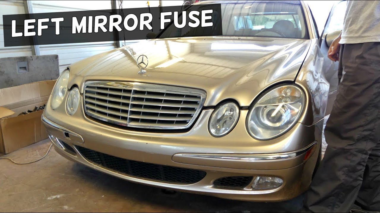 Mercedes W211 Left Mirror Fuse Replacement Youtube 2003 S500 Box