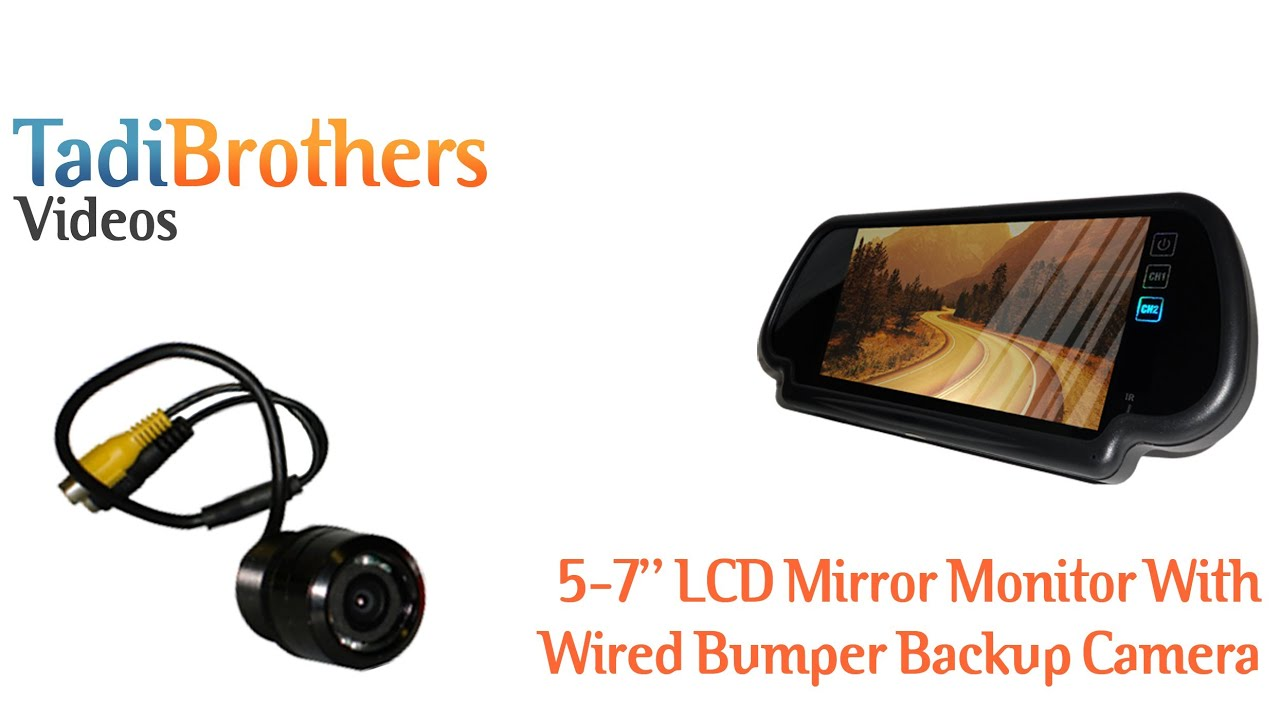 Wired Bumper backup Camera and Mirror monitor Backup Camera System ...