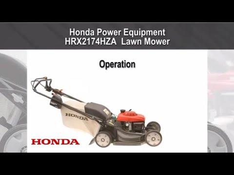 HRX2174HZA Lawn Mower Operation