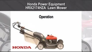 HRX2174HZA Lawn Mower Operation