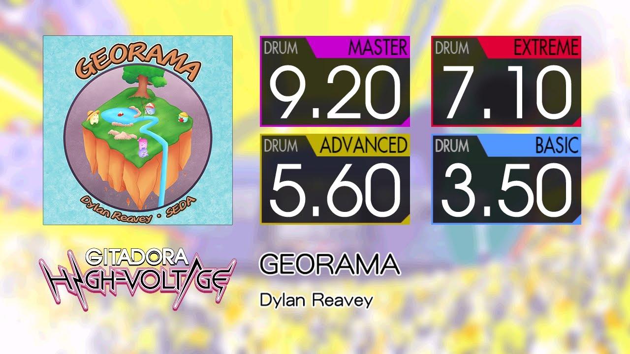 【GITADORA】 GEORAMA (MASTER ~ BASIC) Drum