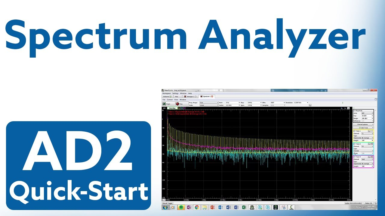 Analog Discovery 2 Quick-Start: Video 8 - Spectrum Analyzer