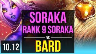 SORAKA \u0026 Aphelios vs BARD \u0026 Ezreal (SUPPORT) (DEFEAT) | Rank 9 Soraka | KR Grandmaster | v10.12