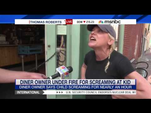 Hero Diner Owner Screams At Crying Child To Shut Up