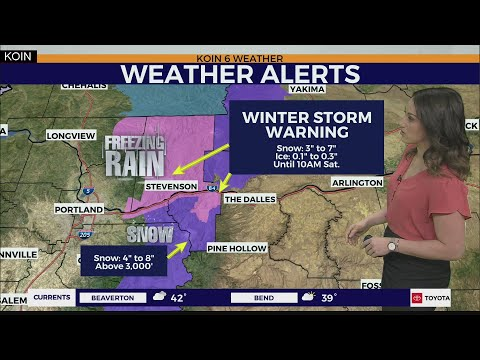 Weather Forecast: Heavy Snow And Ice Takes Aim At The Gorge And Mt. Hood Through Saturday