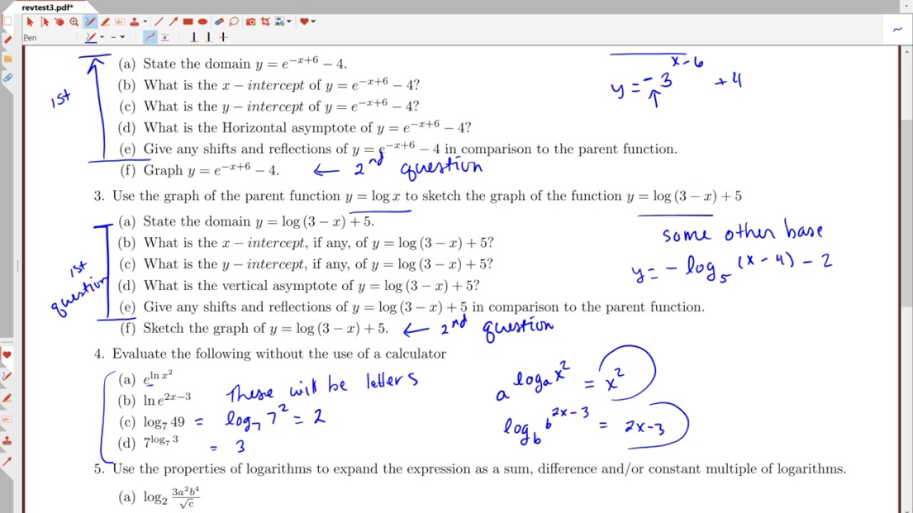 Precalculus Test 3 Review