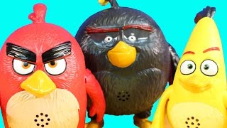 New Angry Birds Toy Collection With The Pigs Red Bomb And Chuck Bird