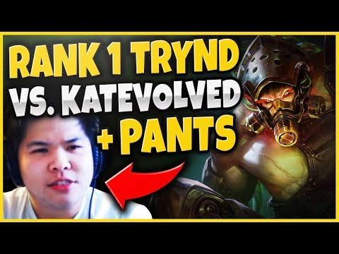 RANK 1 TRYND DESTROYS PANTS + KATEVOLVED (RIFT RIVALS) SCRIMS FT YASSUO, TRICK2G - League of Legends