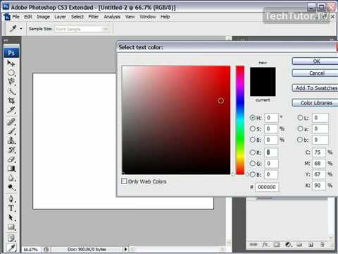 Add Text in Photoshop CS3