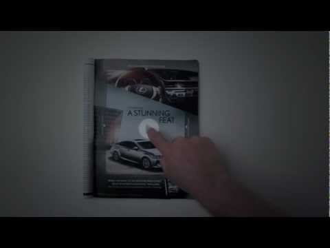 Lexus ES300h animated ad, augmented reality, print + iPad