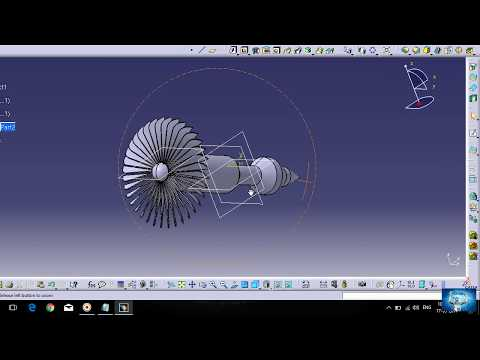 how to draw a turbojet engine using catia.