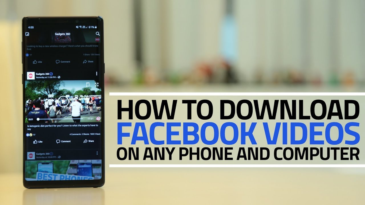 How To Download Facebook Videos On Android Iphone Windows And Mac Ndtv Gadgets 360
