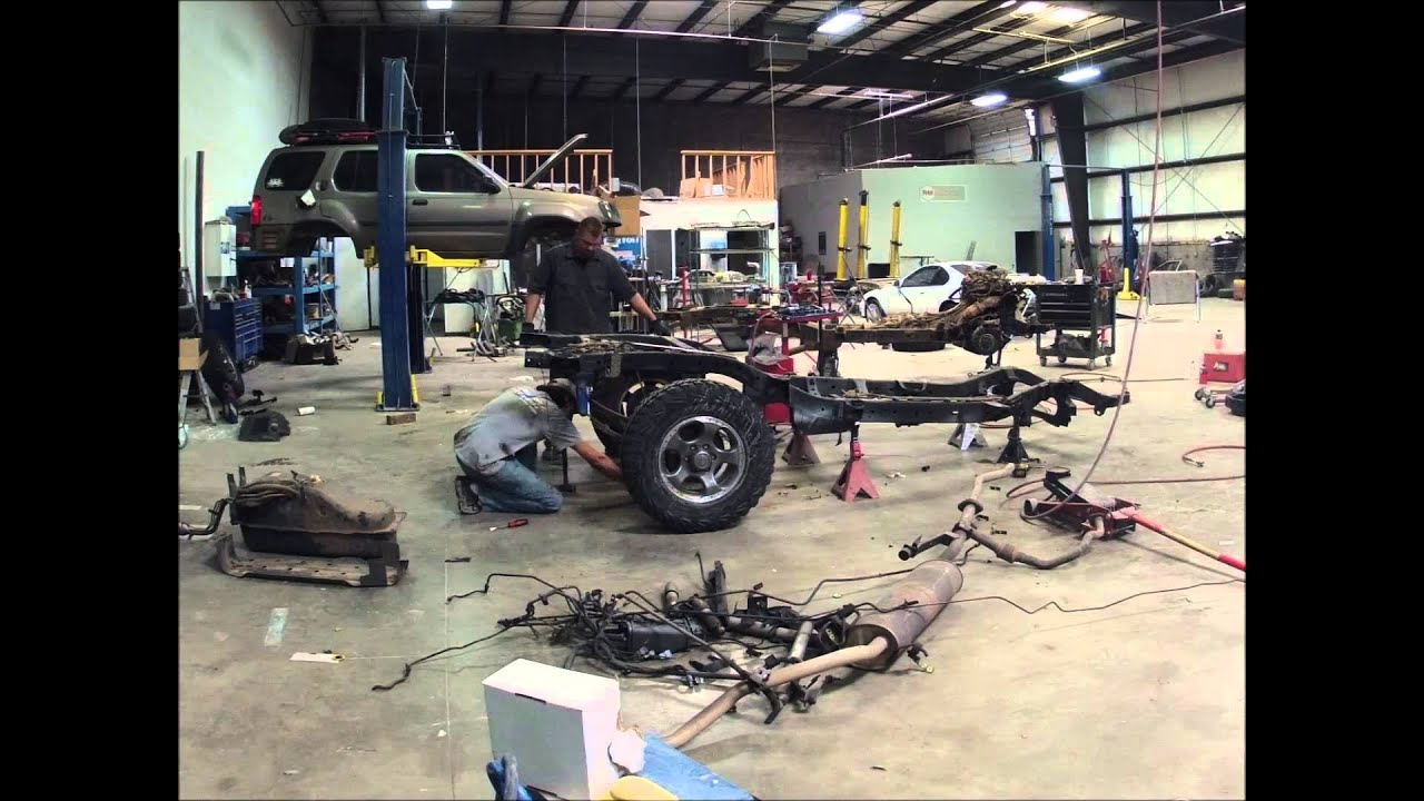 Nissan xterra frame swap timelapse youtube vanachro Image collections