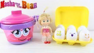 Barbie ve Maşa'nın Renkli Yumurta Maşa Market Alışverişinde  Kasiyer Dora Çizgi Film