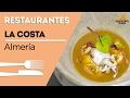 Restaurante La Costa - Almería - Receta chopito con aroma de cebolla  y sopa de calamar