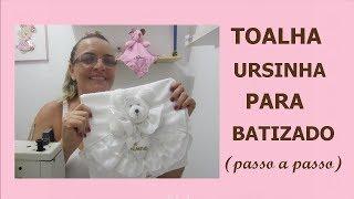 TOALHA PARA BATIZADO URSINHO 3D