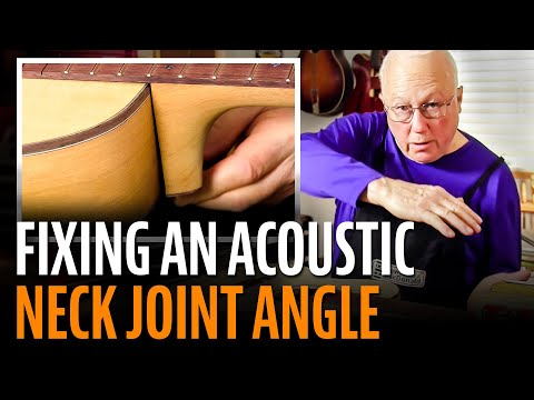 Fixing An Acoustic Neck Joint Angle