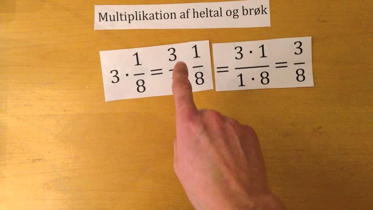 Multiplikation af brøker