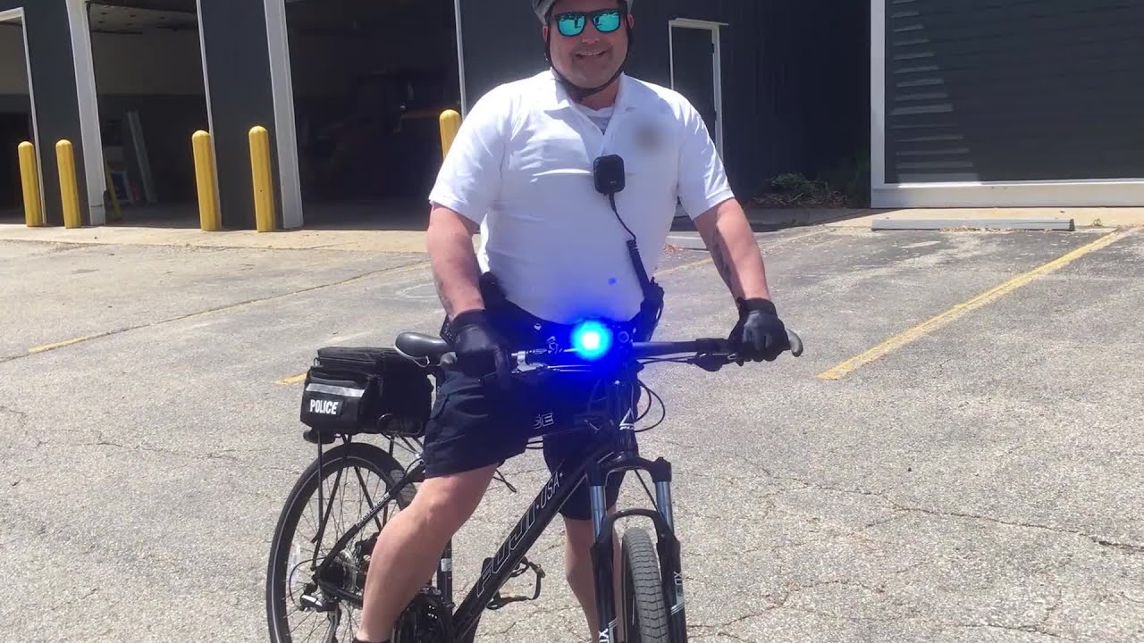 Grunwald Tests Out His Police Bike S Lights And Siren