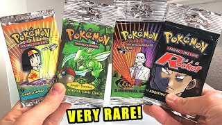 *1ST EDITION HOLO PULLED!* Opening VERY RARE VINTAGE Pokemon Cards Booster Packs!