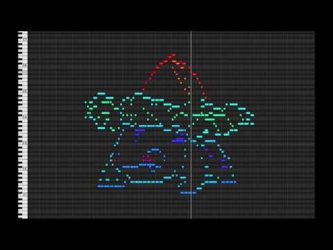 MIDI Drawing No. #5. - Ivysaur (pokemon 002)